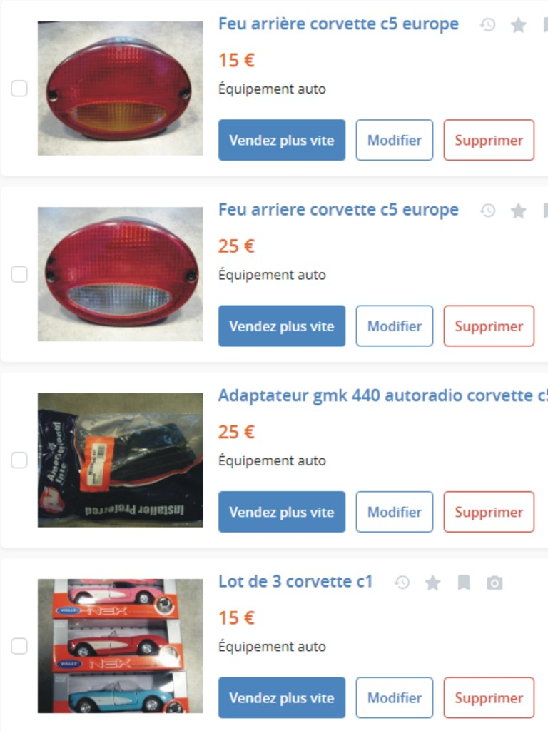 MA COLLECTION DE GOODIES CORVETTE EN VENTE Ann_1110