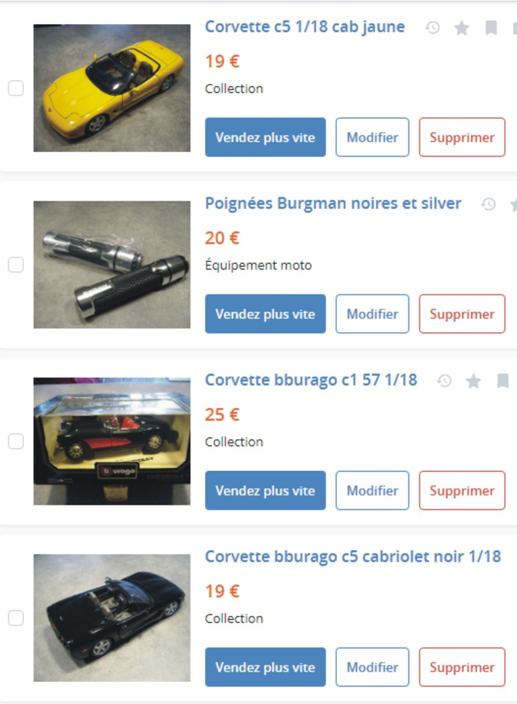 MA COLLECTION DE GOODIES CORVETTE EN VENTE Ann_1210