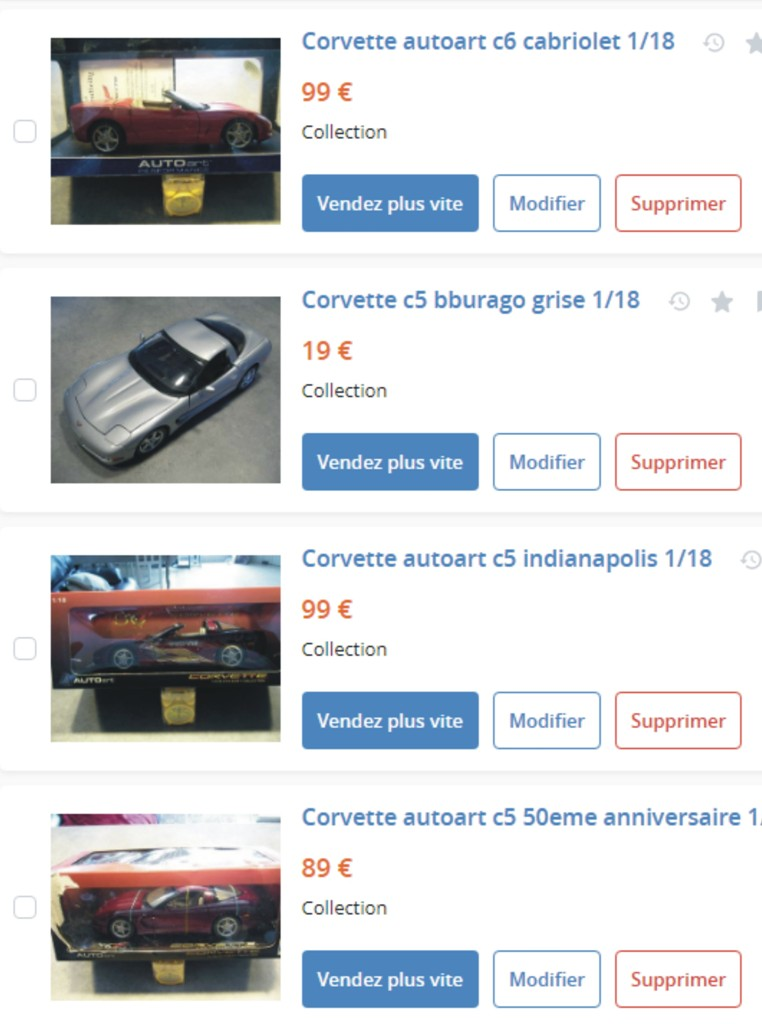 MA COLLECTION DE GOODIES CORVETTE EN VENTE Ann_1310