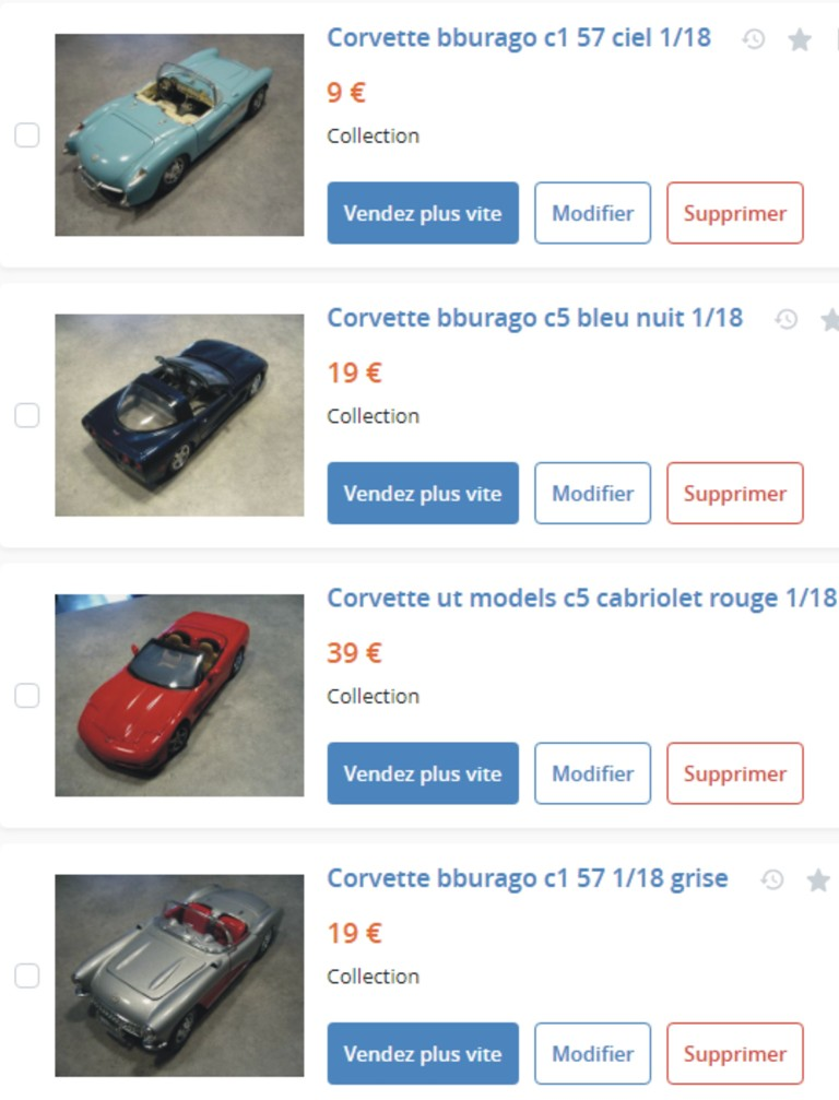 MA COLLECTION DE GOODIES CORVETTE EN VENTE Ann_1410