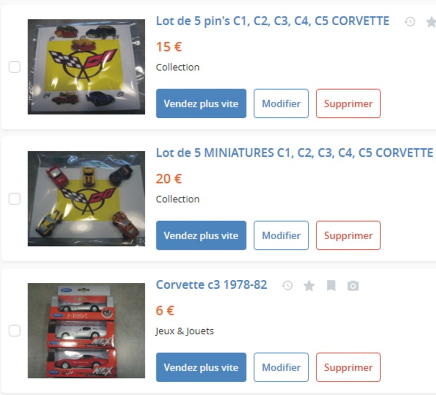 MA COLLECTION DE GOODIES CORVETTE EN VENTE Ann_1810
