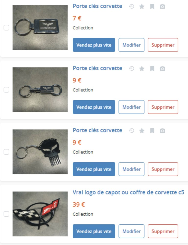 MA COLLECTION DE GOODIES CORVETTE EN VENTE Ann_312