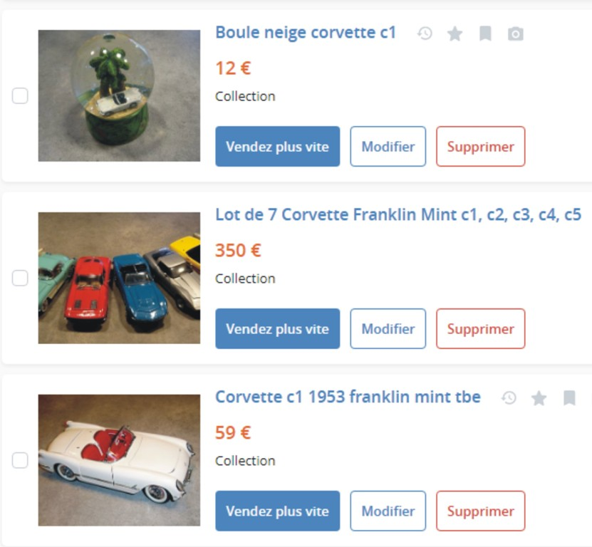 MA COLLECTION DE GOODIES CORVETTE EN VENTE Ann_411