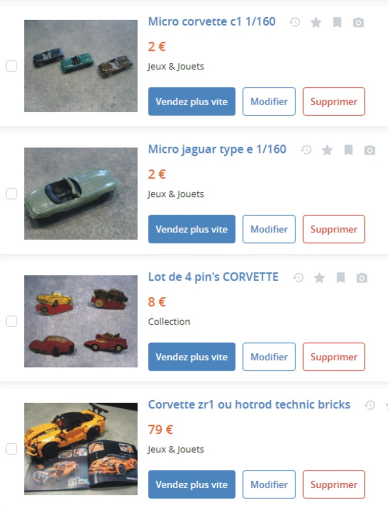 MA COLLECTION DE GOODIES CORVETTE EN VENTE Ann_511