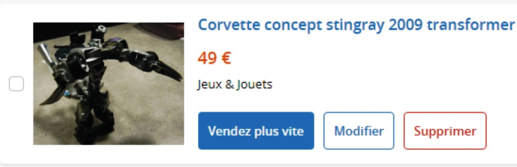 MA COLLECTION DE GOODIES CORVETTE EN VENTE Ann_611