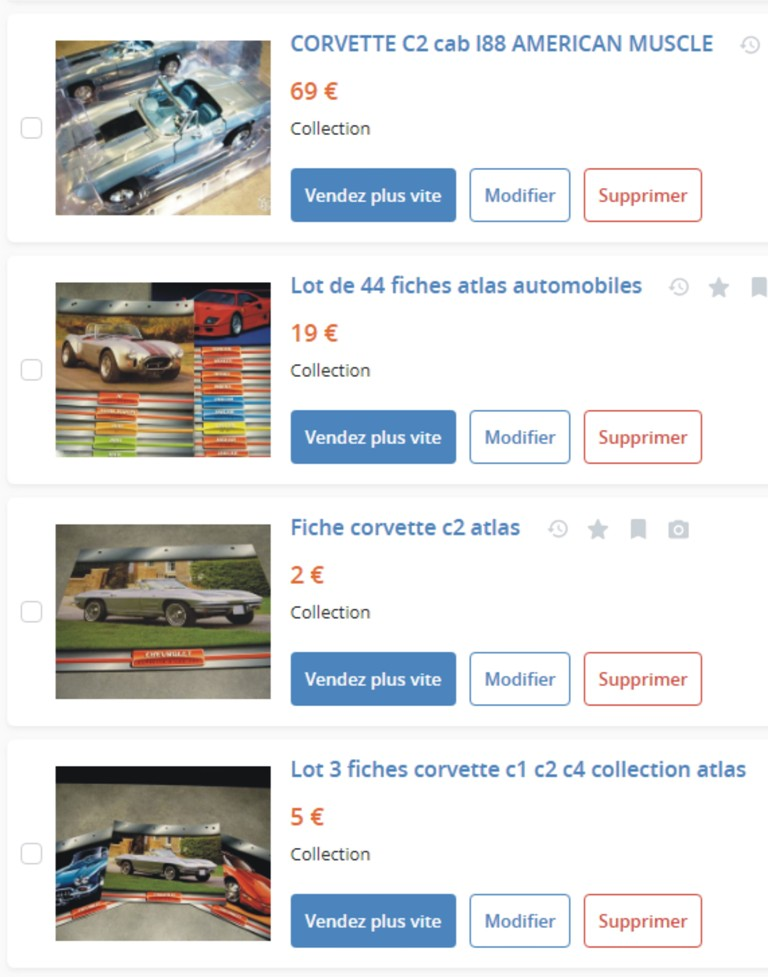 MA COLLECTION DE GOODIES CORVETTE EN VENTE Ann_910