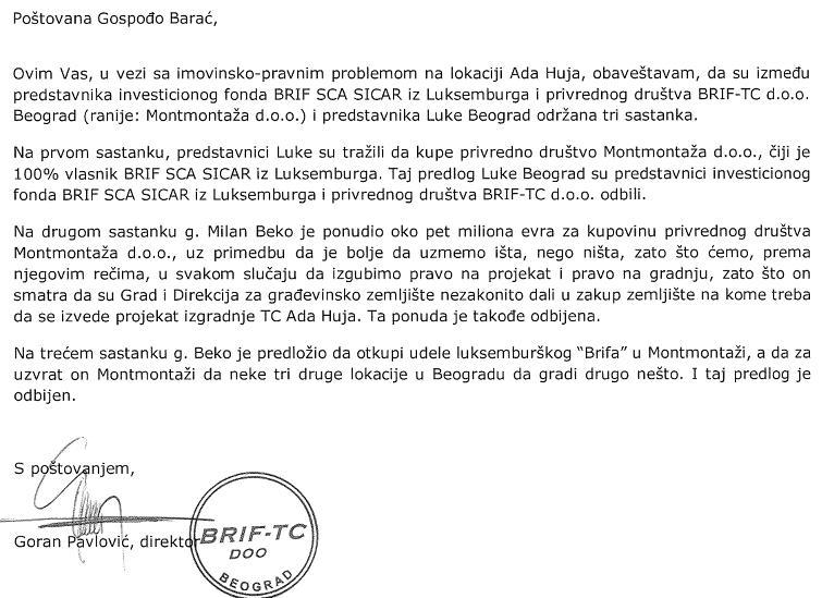 Luka Beograd a.d. Beograd - LBGD - Page 3 Pismo11
