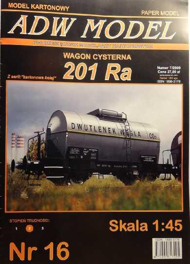 Kohlensäure-Kesselwagen, 1:45 vom ADW-Verlag Dsc02620