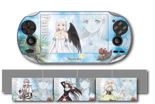 Anuncio de Shining Ark para PSP y set de accesorios del mismo B210af10