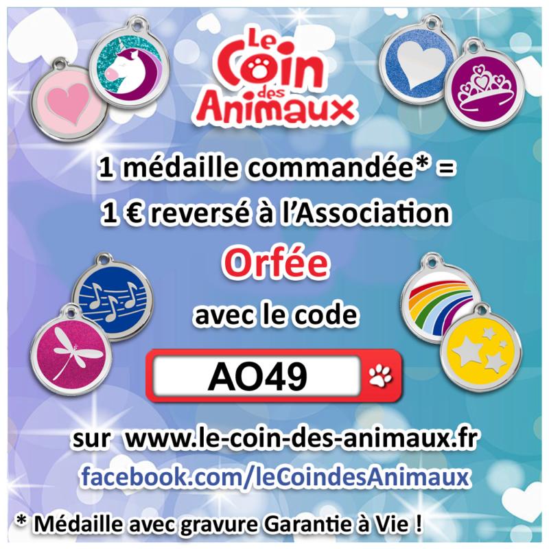 1 médaille achetée = 1 € reversé à l'asso Orfée  Ao4910