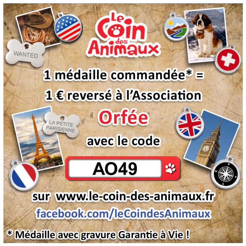 1 médaille achetée = 1 € reversé à l'asso Orfée  Ao49_110