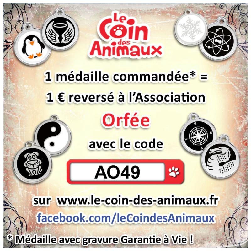 1 médaille achetée = 1 € reversé à l'asso Orfée  Ao49_111