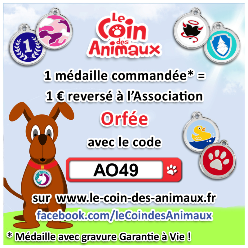 1 médaille achetée = 1 € reversé à l'asso Orfée  Ao49_210