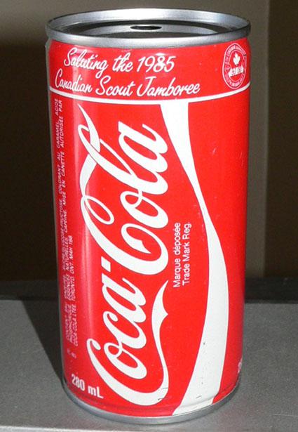 Tirelire canette 280ml (10oz) Coca-Cola 'Jamborée Scout' 1985 Cokeca11
