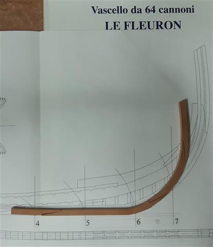 Le Fleuron Sezione di prua 1:72 (Legrottaglie Angelo) Rim20276
