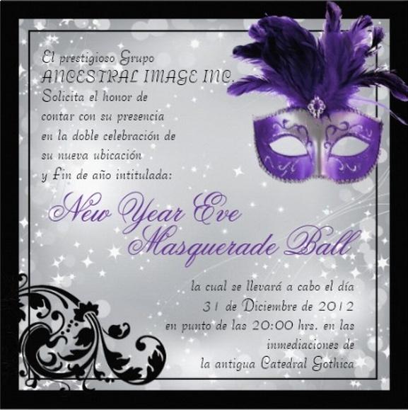 New Year's Eve Masquerade Ball (Rol Masivo 2012-2013) Invita10