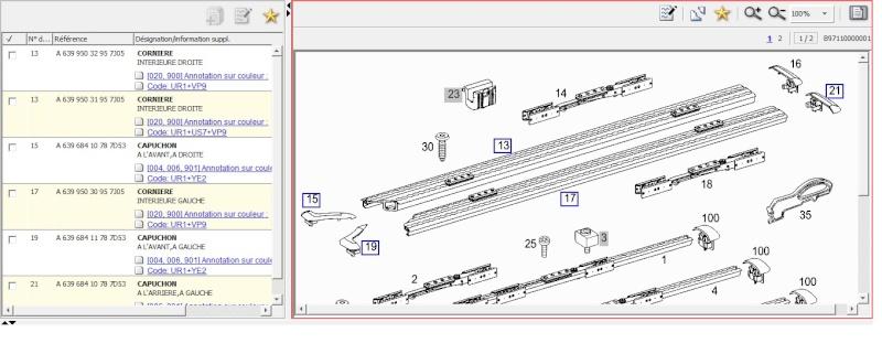 Recherche Table et rails de fixation pour Viano Trend Rail_s14