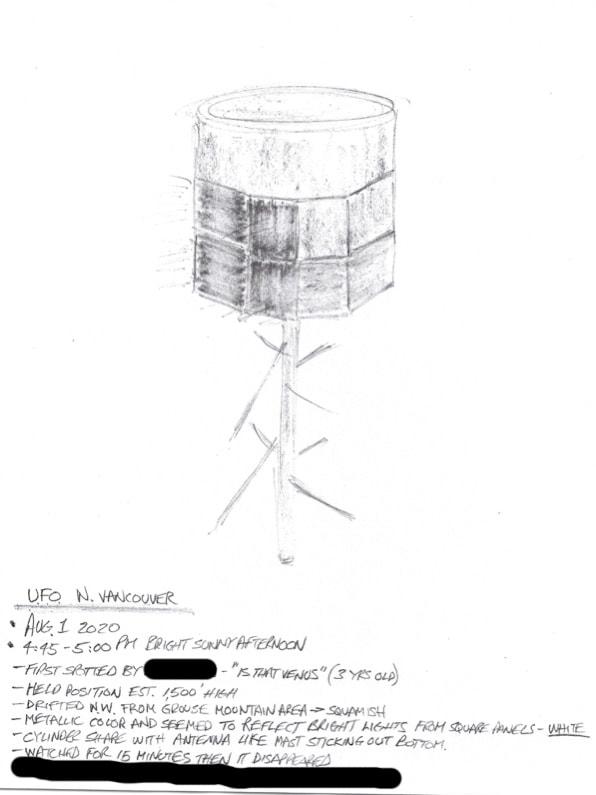 Un Cylindre aperçu au dessus de la Colombie britannique 08032010