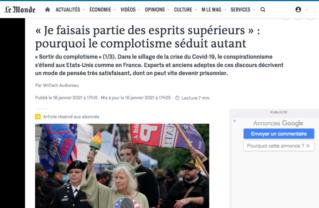 Journal Le Monde : anti-complotisme primaire et vices de forme 128