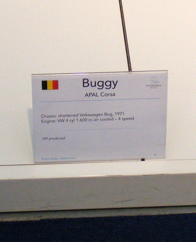 Autoworld - 50 Years Buggy, a Belgian Story ! Dscf7333