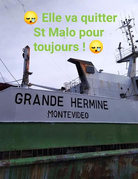 Cie des pêches Saint-Malo : Joseph Roty, Hermine, Emeraude - Page 2 Adieu_10