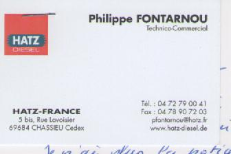 Voici La Carte De Visite Dun Technico Commercial Chez Hatz France Bien Sympathique Qui Jai Demand Doc Pour Un E 85