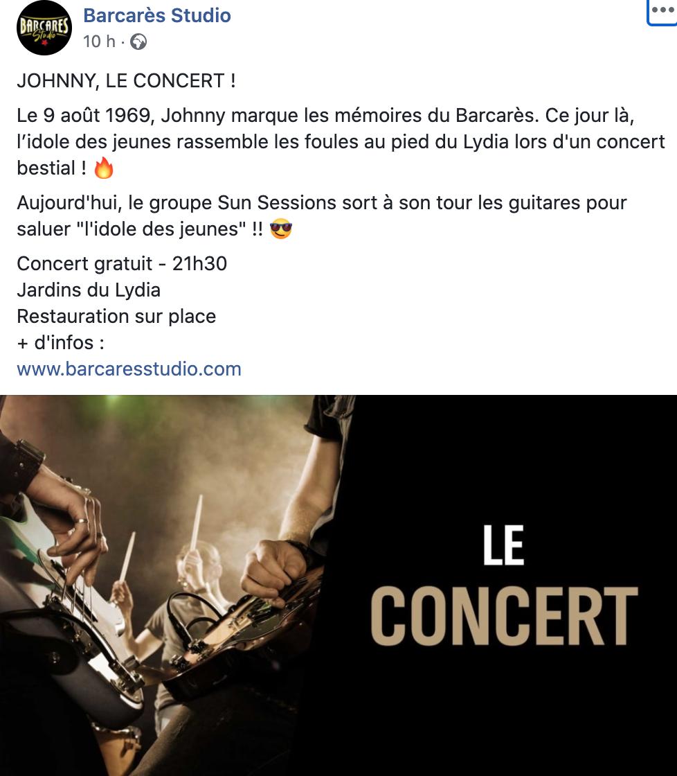 Concert de Johnny le 09 Aout 2020 Le Barcares  Captur11