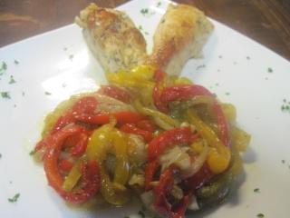 blanc de poulet aux poivrons,vert,rouge,jaune.photos. Blanc_10