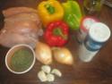 blanc de poulet aux poivrons,vert,rouge,jaune.photos. Blanc_11