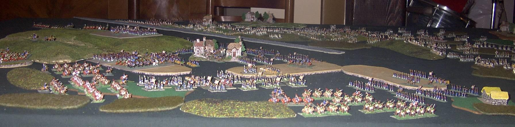 """8 février 1807 : Table-Diorama """"simpliste"""" au 1/300° pour rejouer la bataille d'EYLAU.  01_dac12"""