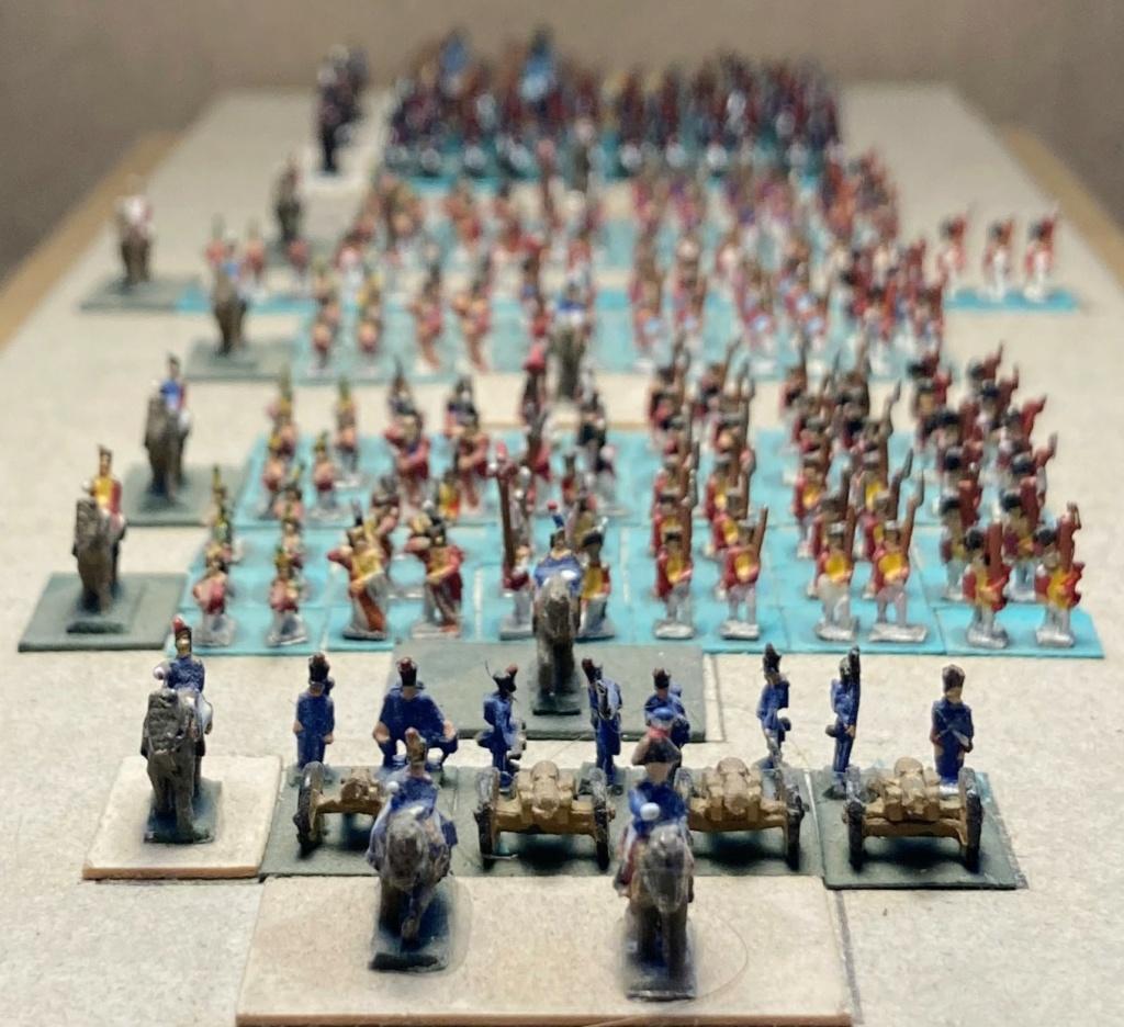 I° Empire : 9° Division du II° Corps d'Armée de 1812 regroupant les 4 Régiments Suisses + le Bataillon Valaisan + 2 Régiments Suisses au service de l'Espagne faits prisonniers à Baylen (Au 1/300°). 10-110