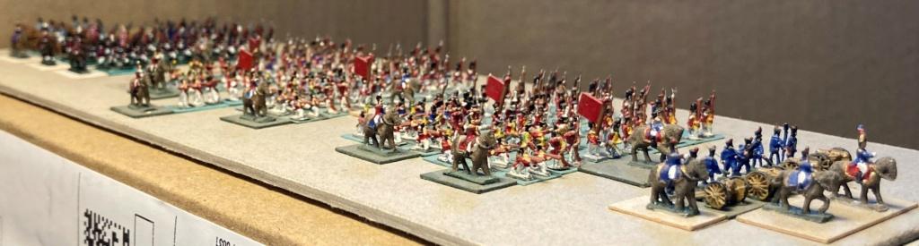 I° Empire : 9° Division du II° Corps d'Armée de 1812 regroupant les 4 Régiments Suisses + le Bataillon Valaisan + 2 Régiments Suisses au service de l'Espagne faits prisonniers à Baylen (Au 1/300°). 10-210