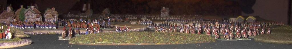 """8 février 1807 : Table-Diorama """"simpliste"""" au 1/300° pour rejouer la bataille d'EYLAU.  1713"""