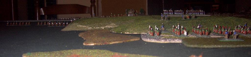 """8 février 1807 : Table-Diorama """"simpliste"""" au 1/300° pour rejouer la bataille d'EYLAU.  1914"""