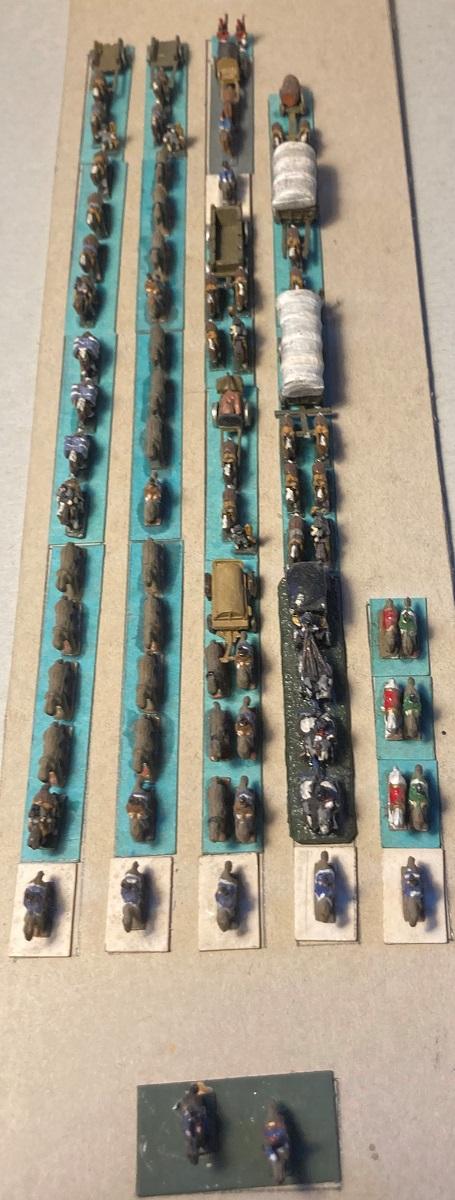 Premier Empire : Division des Équipages de NAPOLÉON Ier (au 1/300 = figurines de 6 mm). 2-1-im10