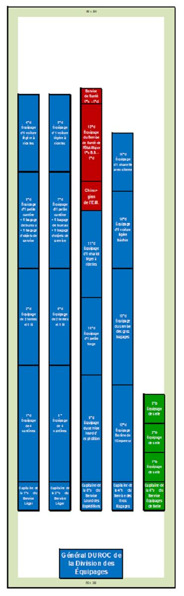 Premier Empire : Division des Équipages de NAPOLÉON Ier (au 1/300 = figurines de 6 mm). 2_divi10