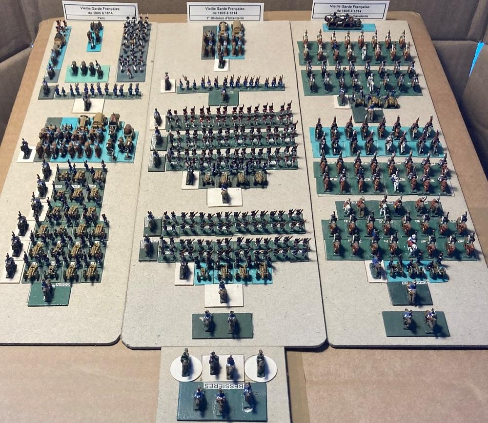 I° Empire : Le Corps de la Vieille Garde Impériale de NAPOLÉON I° (au 1/300°). 3-4_im10