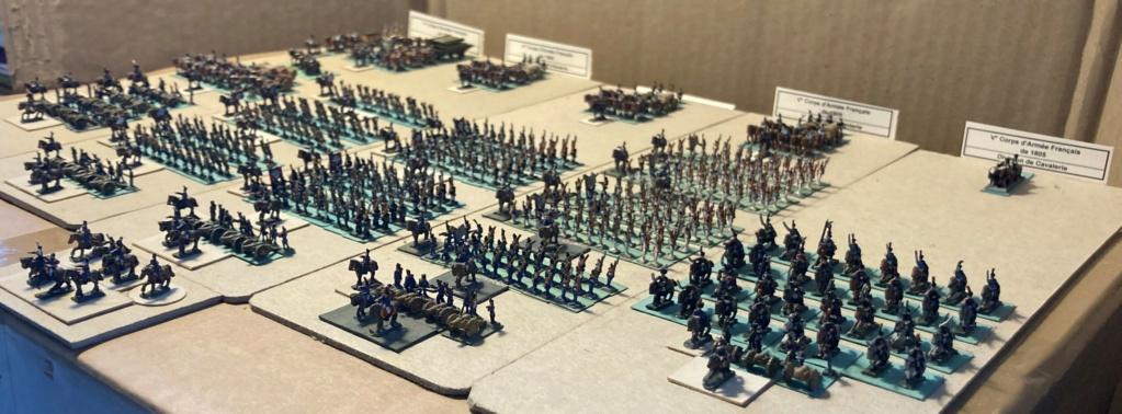 I° Empire : Le V° Corps du Maréchal LANNES à AUSTERLTZ en 1805 (au 1/300°). 6-4-im10