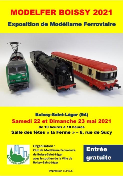 (05) 22 et 23 Mai 2021 Exposition à BOISSY-SAINT-LÉGER 94470. Affich15