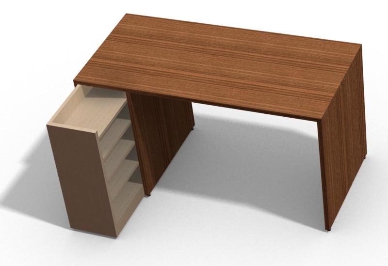 bureau - [Fabrication] Un bureau contemporain et simple…  Bureau10
