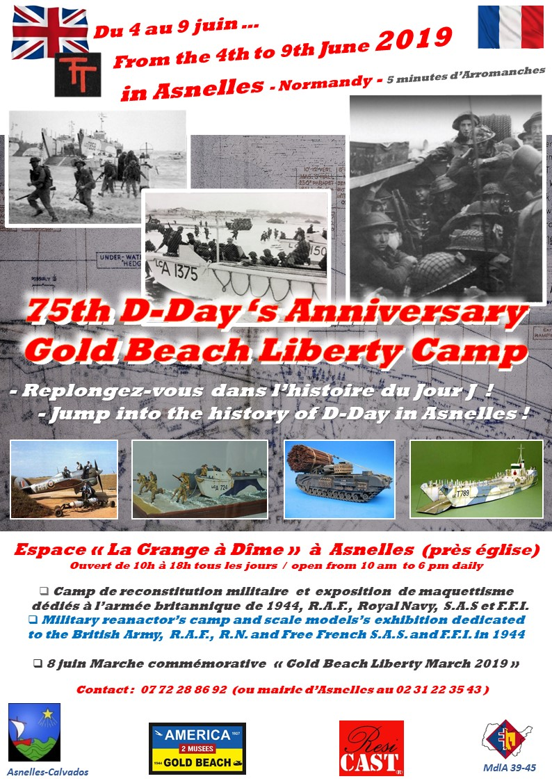 Exposition GOLD BEACH LIBERTY CAMP juin 5 au 9 juin 2019, Normandie Pub_go10