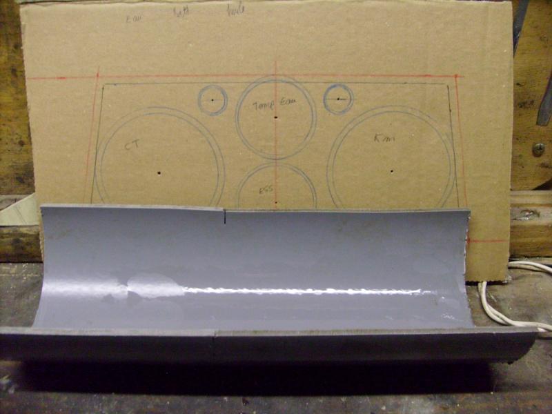 Fabrication d une planche support compteur tableau de bord S7300811