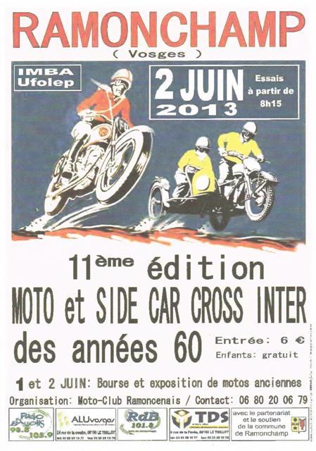 Calendrier 2013 moto et side car cross vintage Cci12013