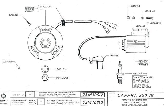 Cappra vb 125 250 et 360 77/78 Cci31113