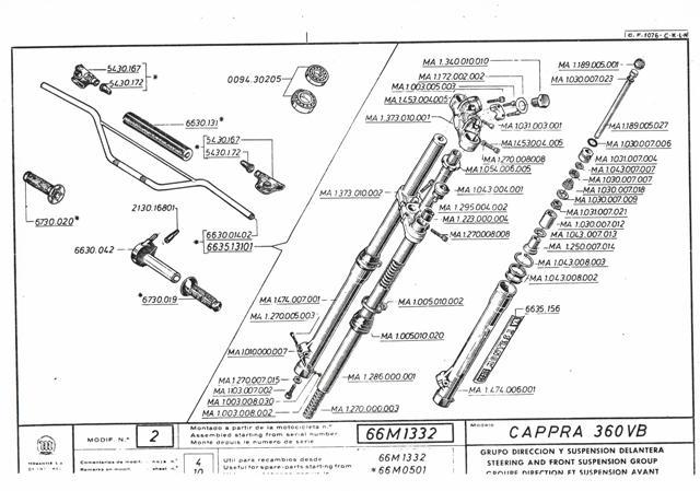 Cappra vb 125 250 et 360 77/78 Cci31137