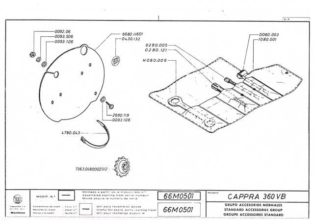 Cappra vb 125 250 et 360 77/78 Cci31151