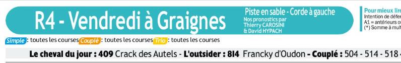 Autres courses PMU du Vendredi 13 décembre 2019 0607