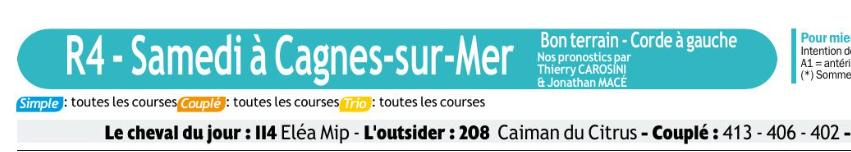 Autres courses PMU du Samedi 14 Décembre 2019 0615