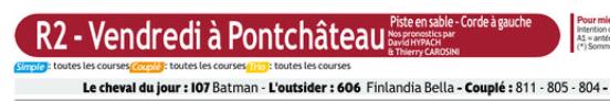 Autres courses PMU du Vendredi 20 décembre 2019 0631
