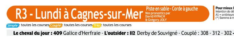 Autres courses PMU du lundi 30 décembre 2019 0663